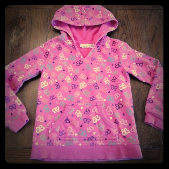 Jumping Beans Hooded Plush Pullover Girls 6X Grey